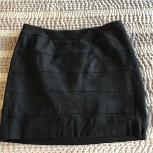 Black stretchy pencil skirt
